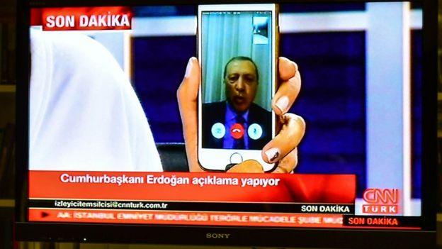 Erdogan por Facetime