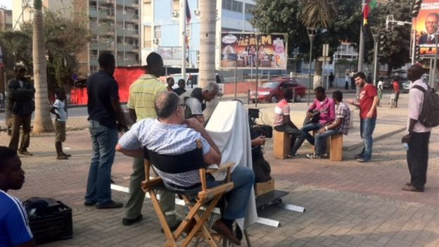 Campanha eleitoral com equipe brasileira é filmada em Angola