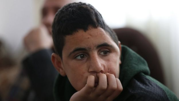 Mohammed Tamimi sits at his home in Ramallah on 27 February 2018