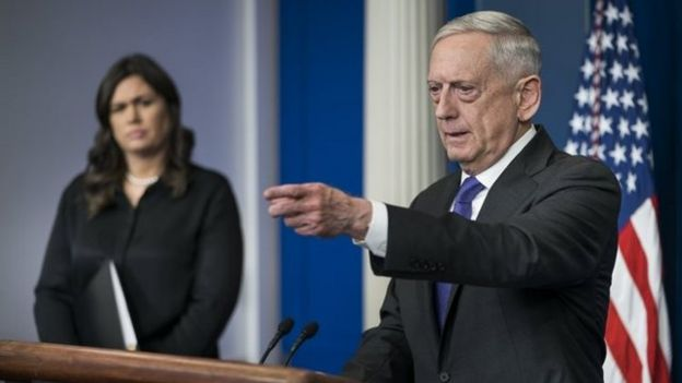 The Secretary of Defense of the United States, Jim Mattis