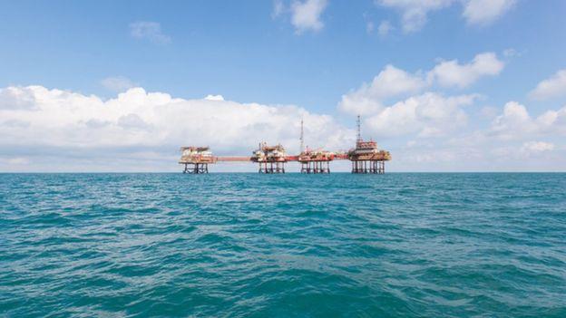 Oil installation in North Sea