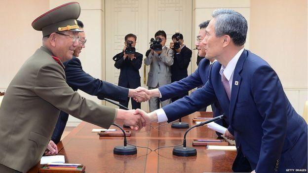 उत्तर और दक्षिण कोरिया के बीच बातचीत