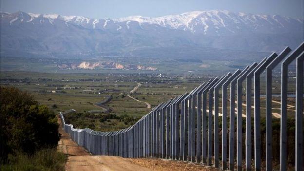 بلندیهای گلان - مرز سوریه و اسرائیل در منطقه اشغالی گلان