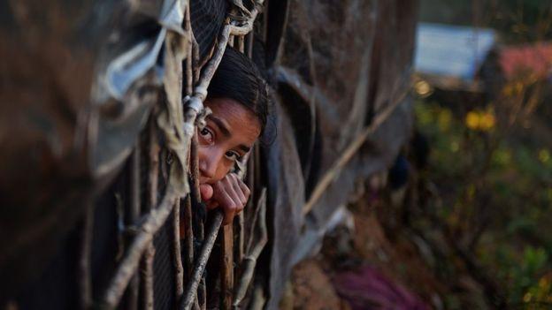 Hàng trăm ngàn người Rohingya hiện đang sống tại các trại tị nạn như trong hình ở Bangladesh