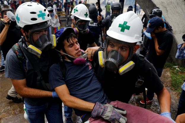 Manifestante herido