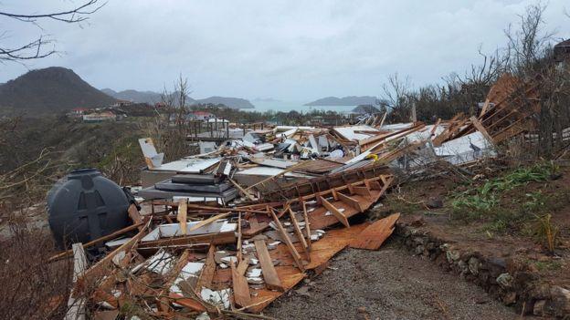 Casa destruida por el huracán Irma