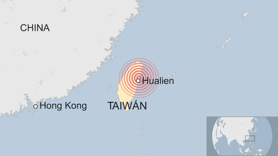 Mapa de Hualien