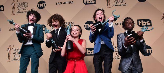 Los niños de la serie