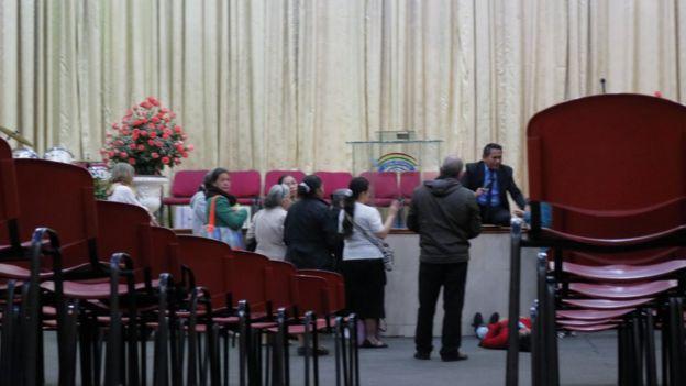 Interior de iglesia pentecostal