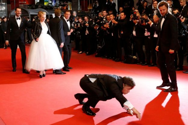 Terry Notary on the red carpet