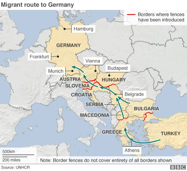 How is the migrant crisis dividing eu countries bbc news map locator gumiabroncs Image collections