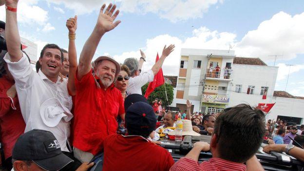 Lula em Campina Grande, Paraíba, em 19 de março de 2017