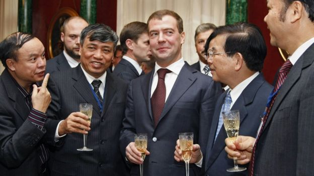 Lãnh đạo Nga và Việt Nam ở Moscow năm 2008