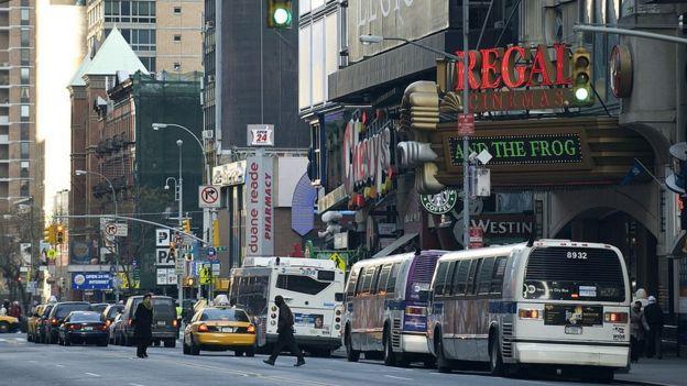 Estación de buses de Manhattan, Nueva York.