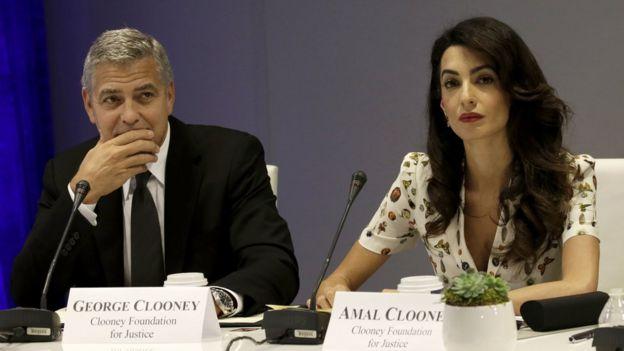 Джордж Клуни и его жена Амаль Клуни