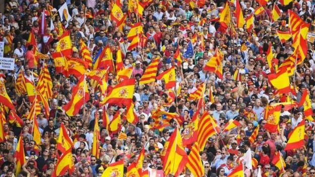 क्याटलोनिया, स्पेन, स्वतन्त्रता, विरोध प्रदर्शन