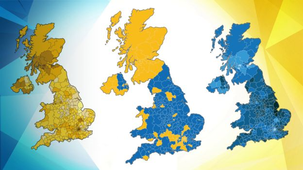 Area By Area In Maps See How People Voted