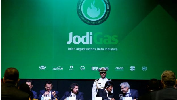 Evo Morales y otros asistentes a la reunión de Santa Cruz.