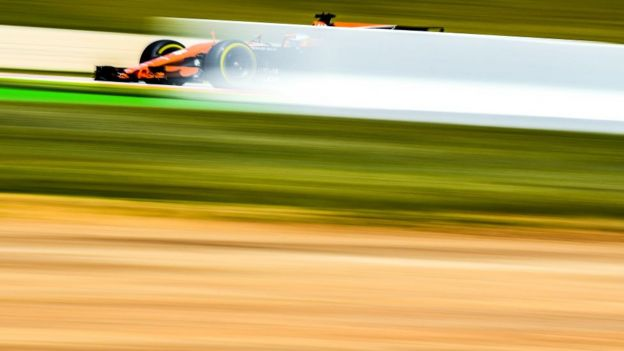 Un bólido de Fórmula 1