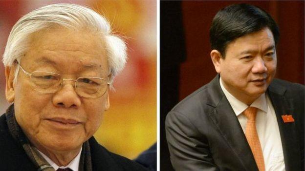 Tổng bí thư Nguyễn Phú Trọng (trái)