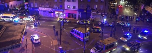 Police near Finsbury Park Mosque