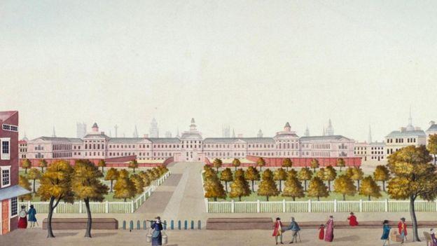 Una ilustración del Bethlem Royal Hospital