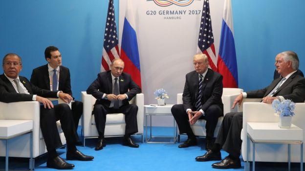 Лавров, Путин, Трамп, Тиллерсон