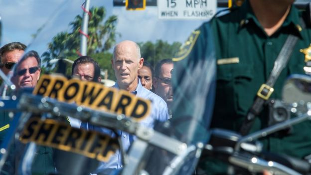 El gobernador de Florida, Rick Scott.