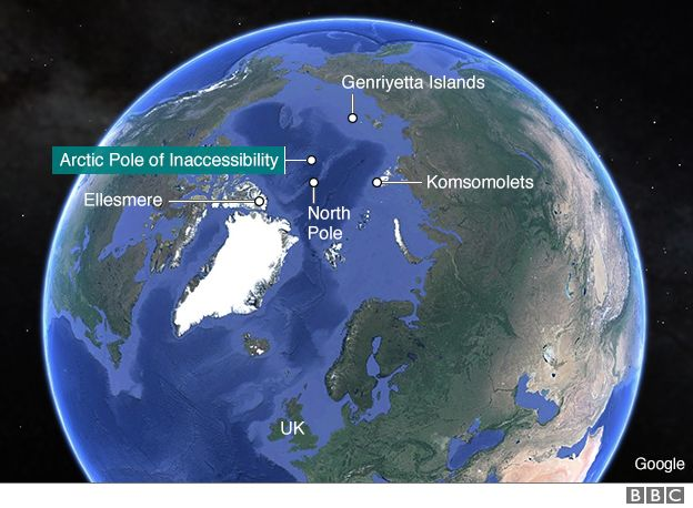 The quest to conquer the other North Pole  BBC News