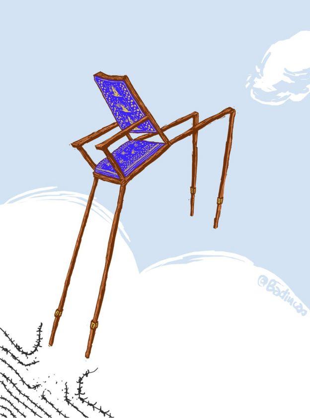 Hình ảnh chiếc ghế bỏ trống tại lễ trao giải Nobel Hòa binh 2010 đã là nguồn cảm hứng cho các nghệ sĩ.