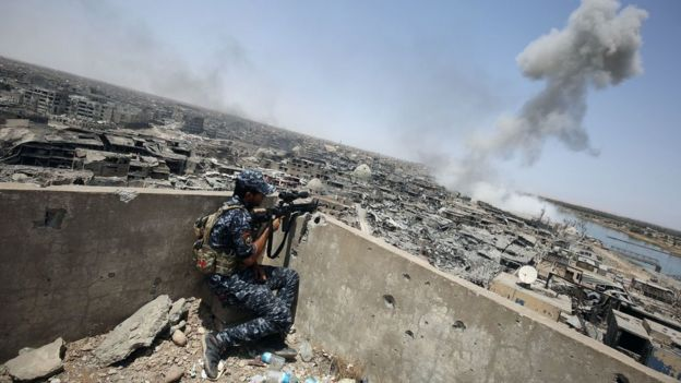 Wanajeshi wa Iraq walipambana usiku kucha kuukomboa mji huo
