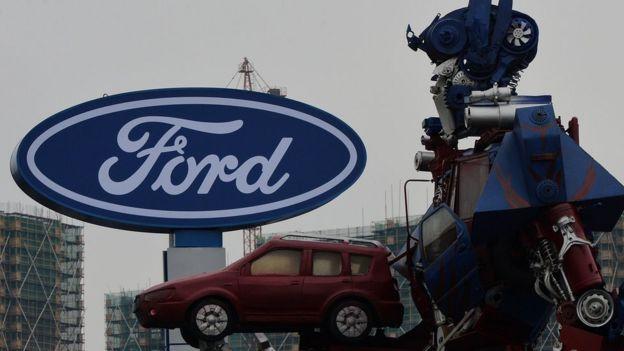 Un anuncio de Ford en China