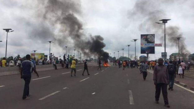 Moja ya maandamano Jamhuri ya kidemokrasia ya Congo