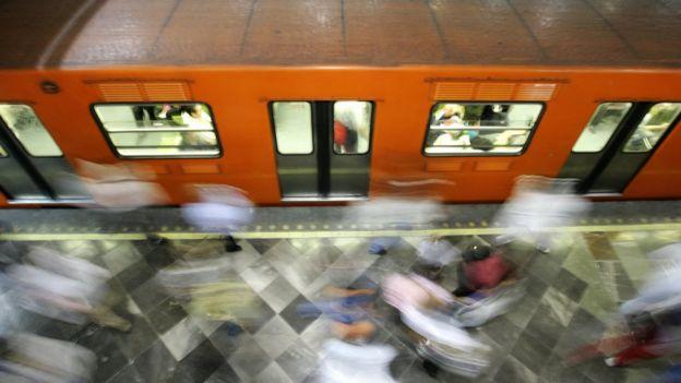 Vagão do metrô da Cidade do México