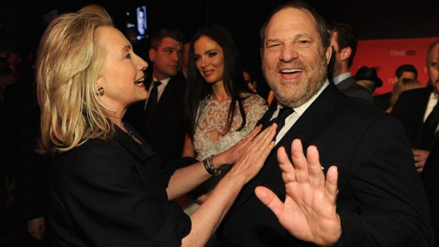 Hillary Clinton with Harvey Weinstein in 2012
