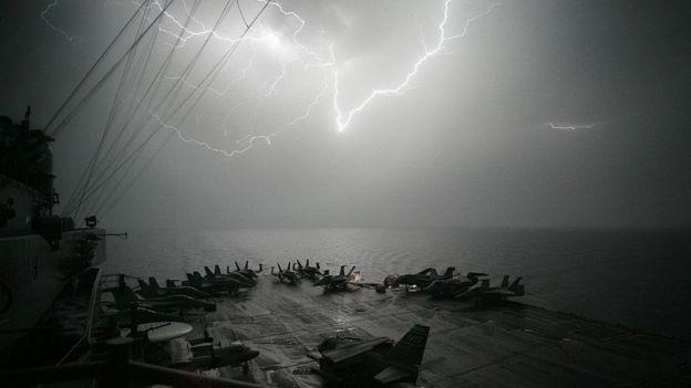 Tempestade no Oceano Índico