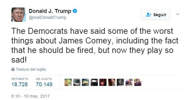 Nuevo escándalo en EE.UU: Trump amenazó al ex director del FBI