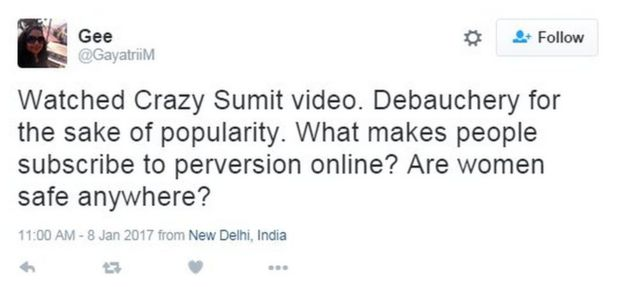 Watched Crazy Sumit video. Debauchery for the sake of popularity. What makes people subscribe to perversion online? Are women safe anywhere?