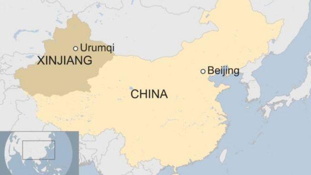 Peta Xinjiang