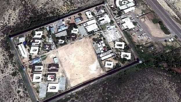 """Centro de Reinserción Social (Cereso) de Piedra Negras, en Coahuila, México, el 30 de septiembre de 2012. (Foto: Google Maps, incluida en el informe """"El yugo Zeta"""")"""