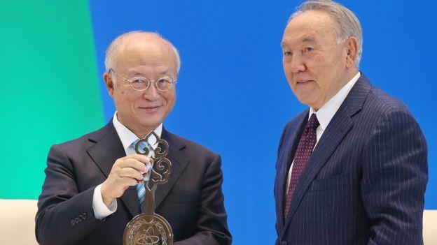 Амано и Назарбаев