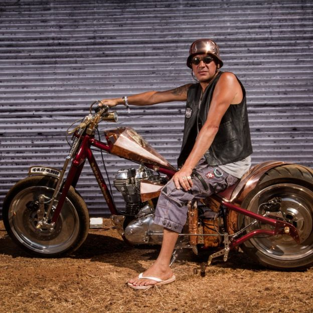 Image Caption Leroy Trout Builds Customised Bikes Creating One Of A Kind Motorcycles In Goa