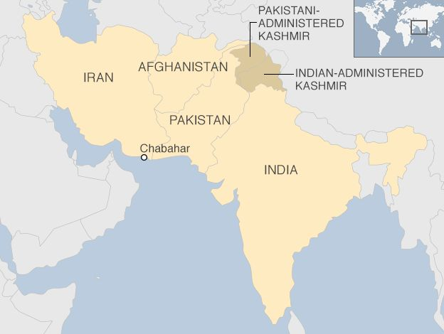 India and Iran sign historic Chabahar port deal BBC News – Map of Iran and India