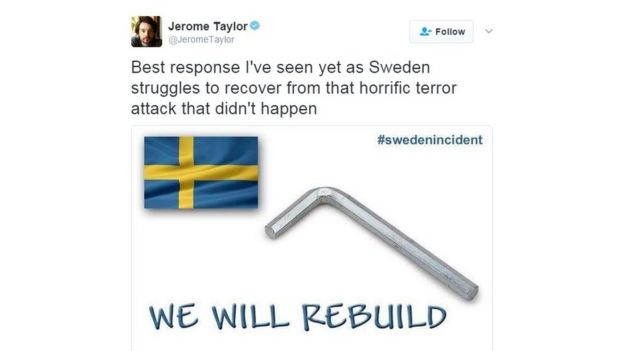 _94737760_sweden5 trump tries to explain remark about sweden amid confusion bbc news,Trump Sweden Meme