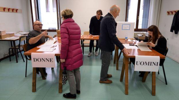 Voto en Italia