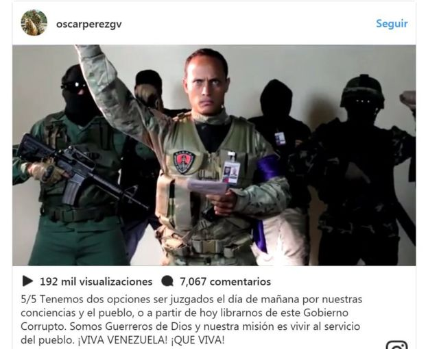 Captura del video de Óscar Pérez