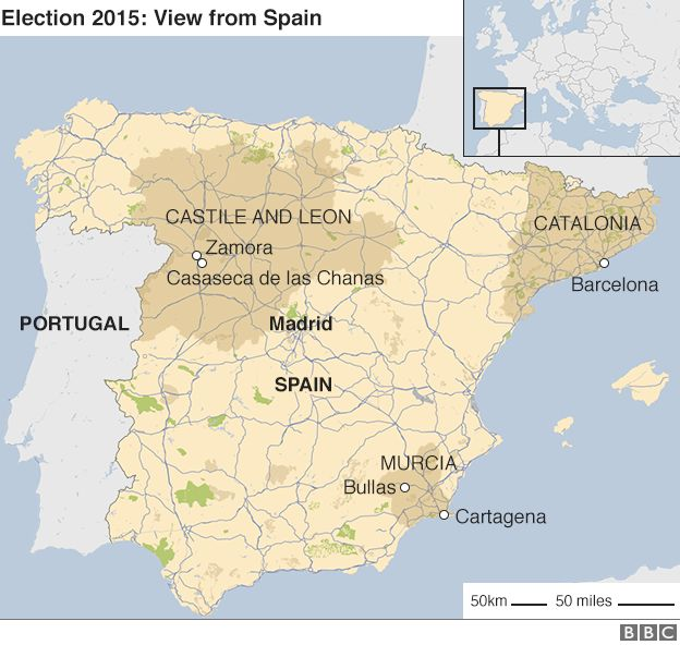 Spain Election Political Uncertainty After Split Result BBC News - Bbc election map us