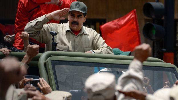 O presidente Nicolás Maduro