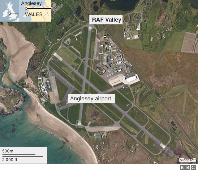 Map of RAF Valley