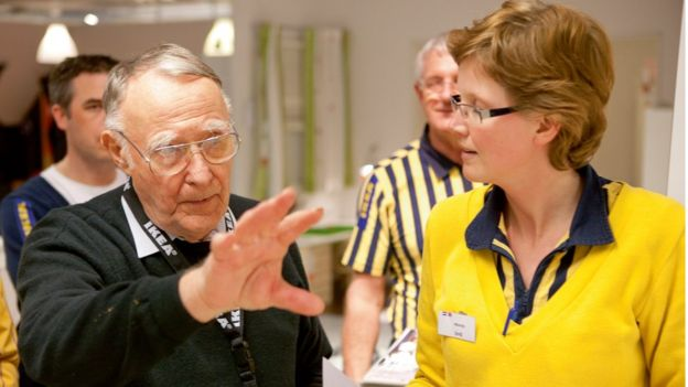 Ingvar Kamprad in an Ikea store circa 2007